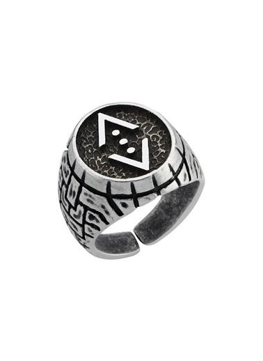 Bendis Design Çukur Yüzük (Özel Mat Mineli) Gümüş